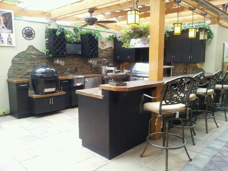 diseños de cocinas modernas negro