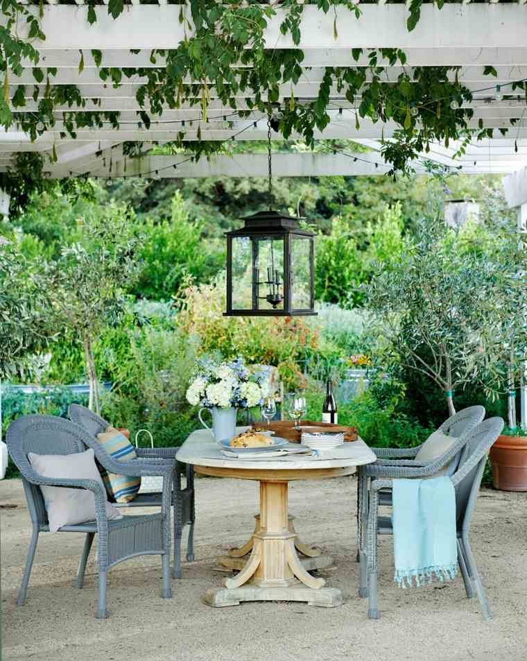 disenos jardines modernos comedor clasico bajo pergola ideas
