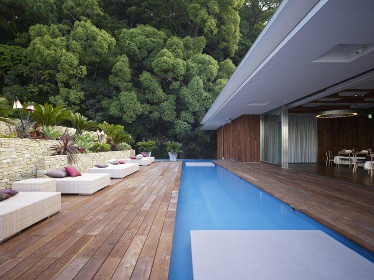 disenos jardines modernos opciones piscinas ideas