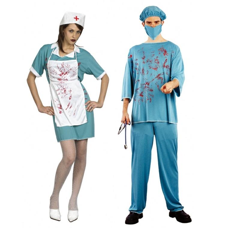 disfraces doctor y enfermera asesinos