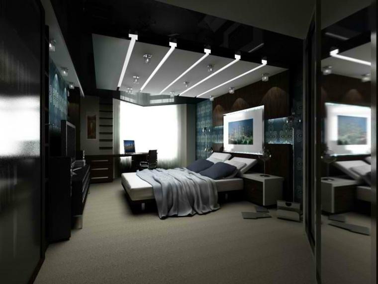 dormitorios modernos matrimonio negro profundidad