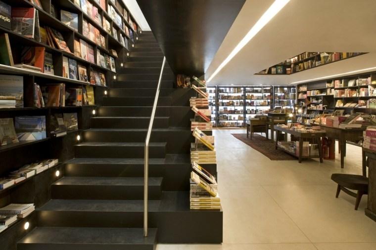 escaleras biblioteca túnel libros