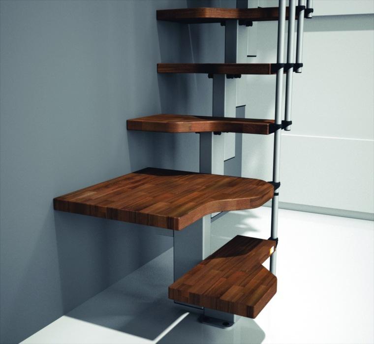 escaleras interior escalones madera