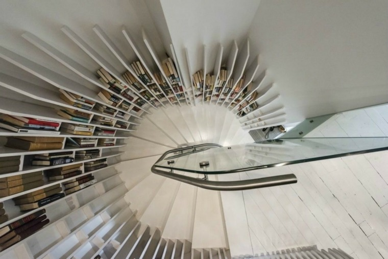 Escaleras biblioteca el dise o inteligente for Escaleras de interior para espacios reducidos