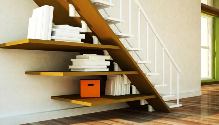 escaleras interiores decoración libros