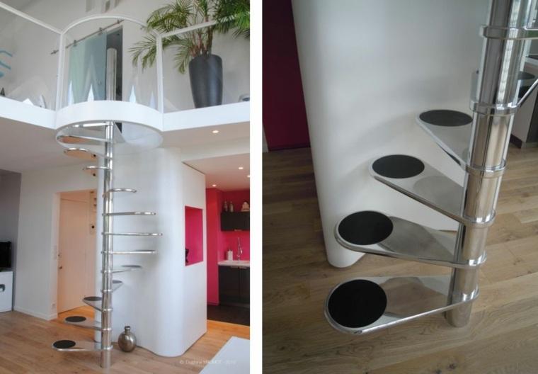 Escaleras interiores inspiradas en la modernidad - Escaleras metalicas interiores ...