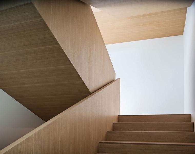 escaleras caracol modernas laminado madera
