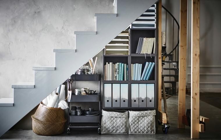 escaleras originales espacio comprimido