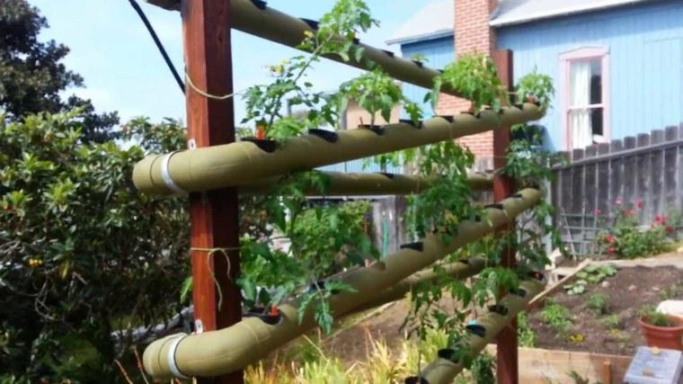 estructuras para jardines verticales tuberías