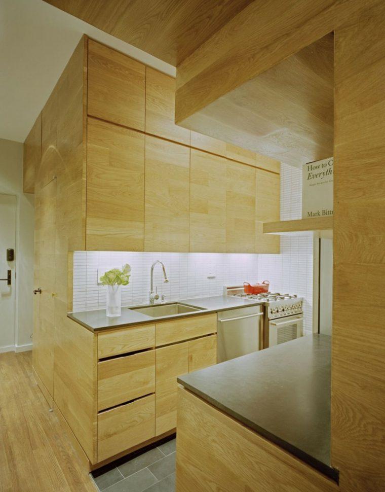 estudio pequeno funciona elegante Manhattan cocina ideas