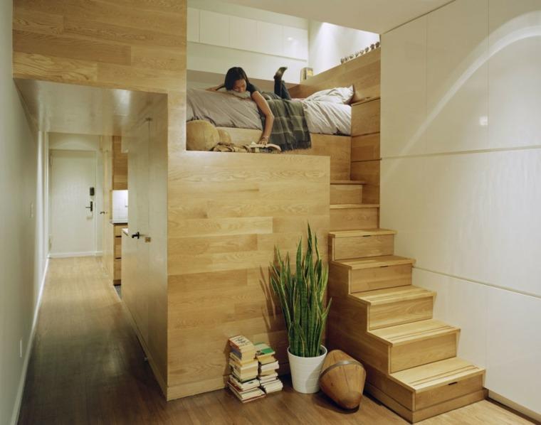 estudio pequeno funciona elegante Manhattan dormitorio ideas