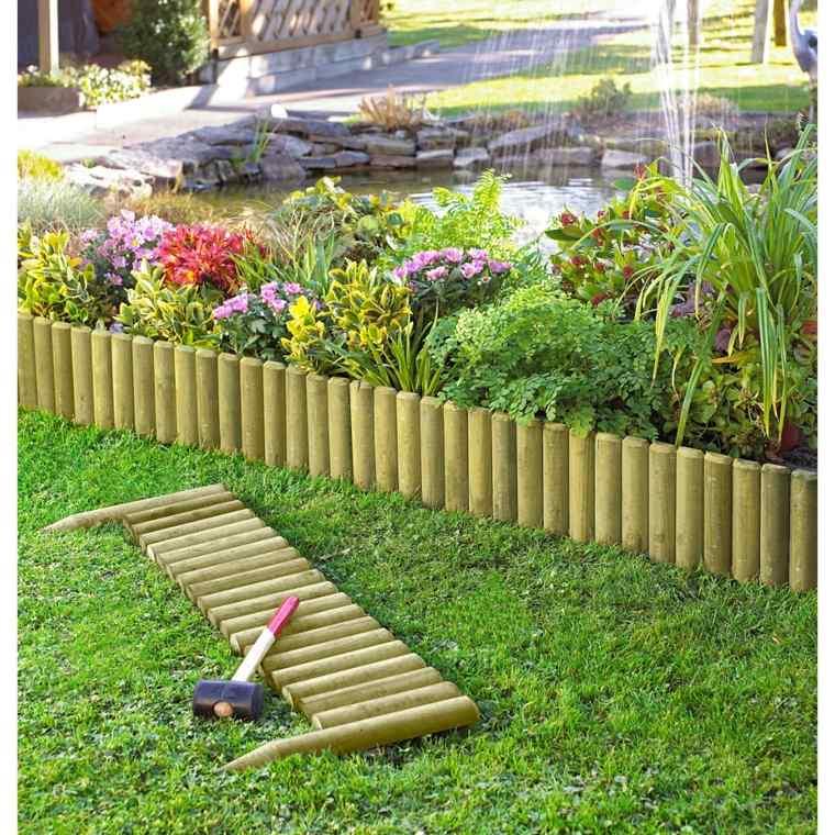 Bordes y separadores para parcelas de jardines 24 ideas for Como evitar que salga hierba en el jardin