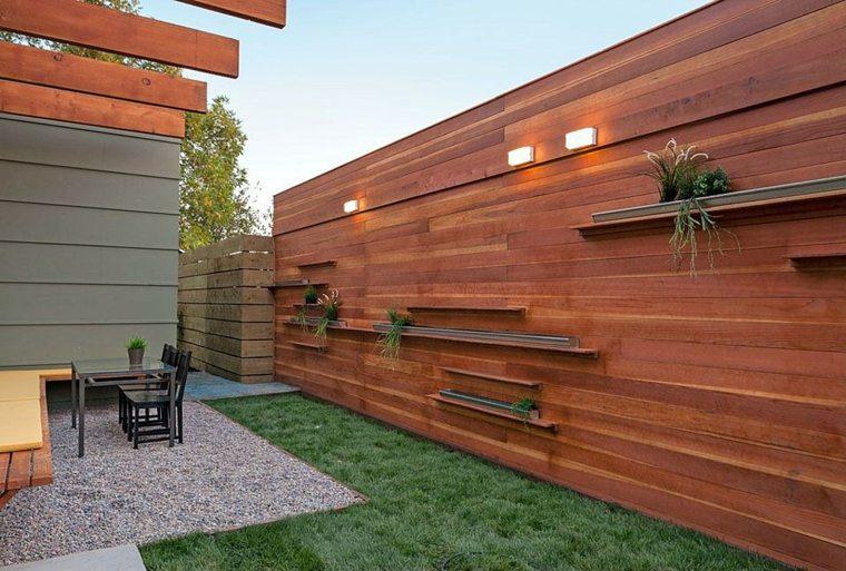 diseo valla madera moderna