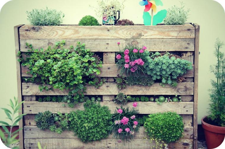 estupendo jardín vertical palet