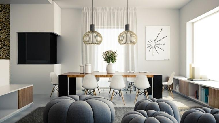 estupenda decoración sillas nordicas