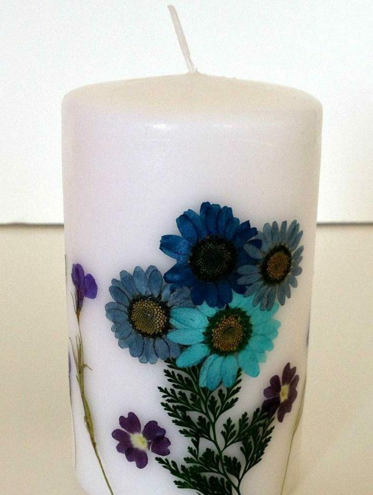 estupenda decoración velas flores