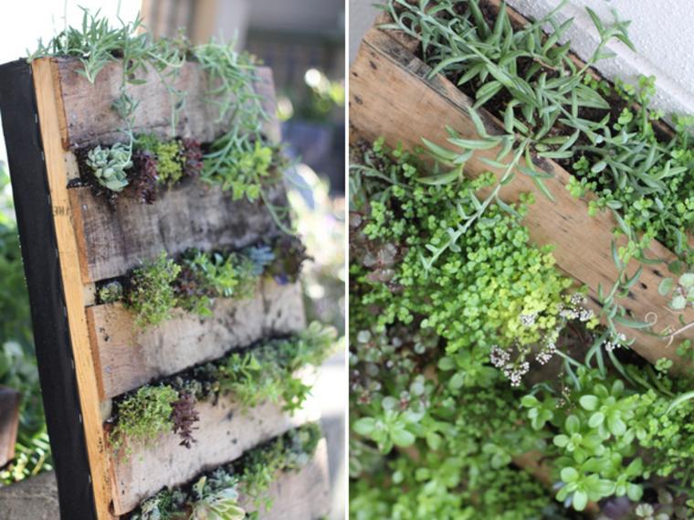 Jardinera diy de palet 12 sencillos pasos para construirla for Jardinera de madera vertical
