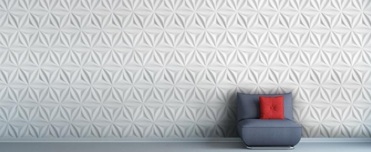 Texturas con relieves descubre las paredes en 3d for Paneles acrilicos para paredes