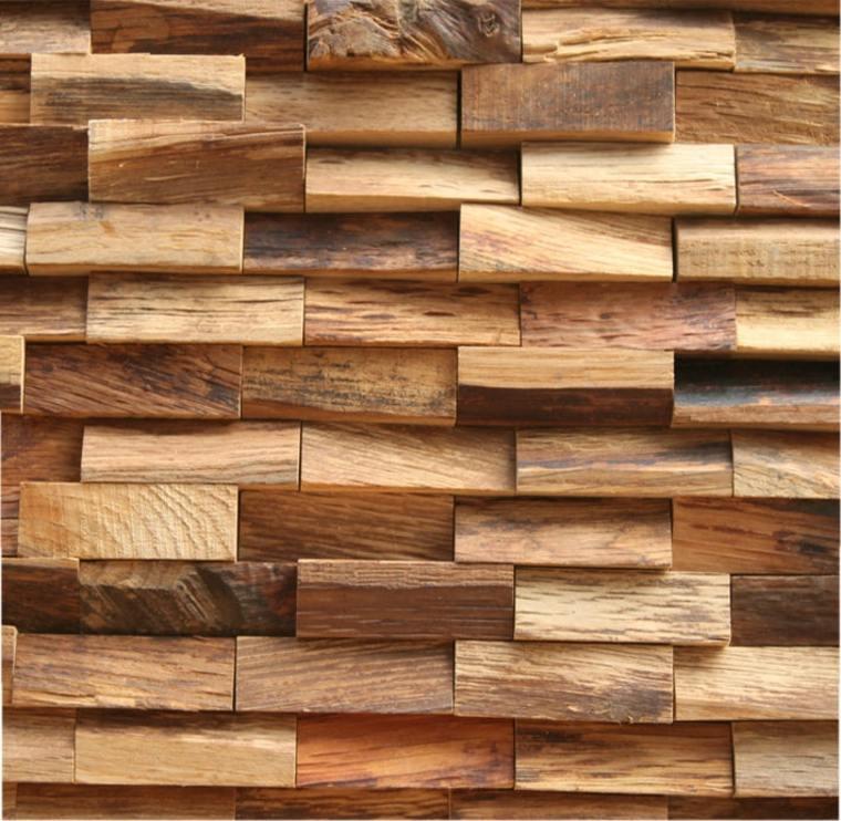 Texturas con relieves descubre las paredes en 3d - Revestir pared con madera ...
