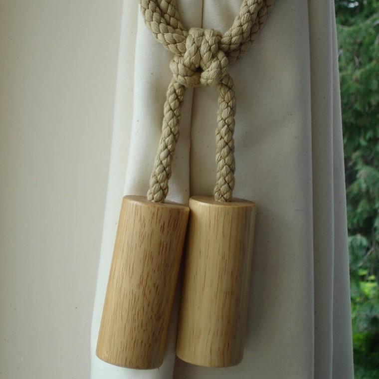 estupendas cortinas adornos colgantes madera