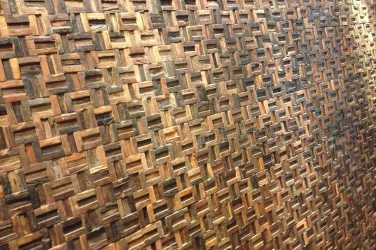 Texturas con relieves descubre las paredes en 3d - Mosaico de madera ...