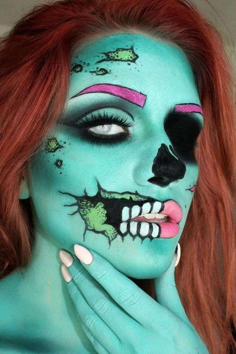 estupendo diseño maquillaje para halloween