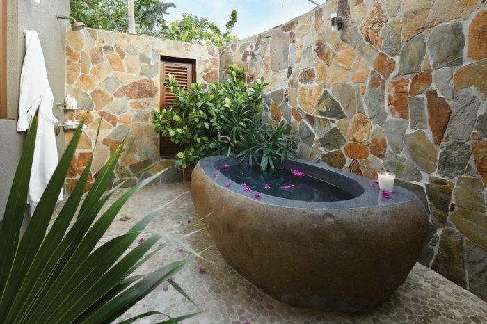 exteriores baño muestras sitios muros