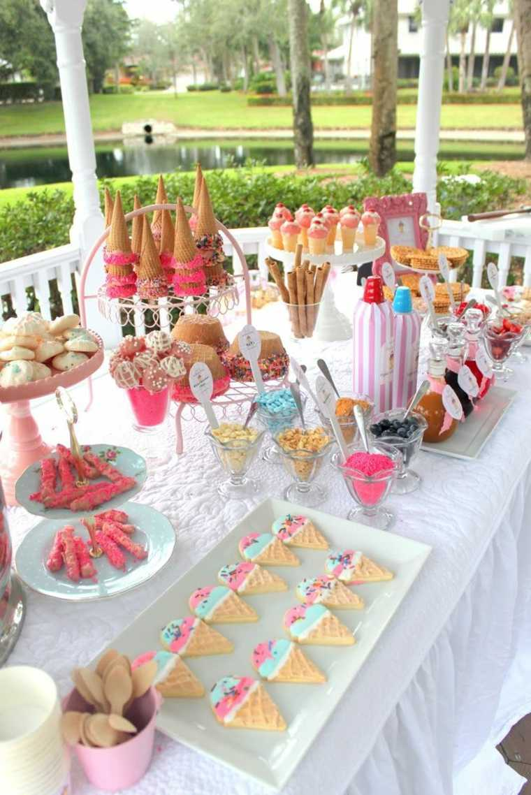 fiesta facil decoracion mesa comida aire libre ideas