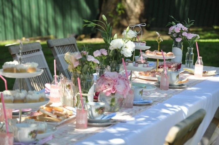 fiesta facil decoracion opciones mesa jardin ideas