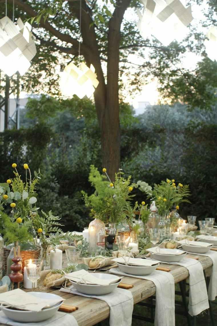 fiesta facil preparar mesa opciones decoracion jardin ideas