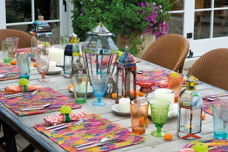 Fiesta f cil de decorar ideas y consejos - Decorar mesas de jardin ...