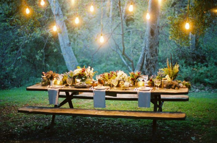 fiesta jardin opciones decoracion verano iluminacion noche ideas
