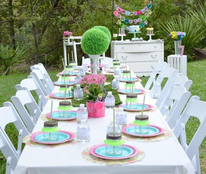 fiestas infantiles ideas platos verde