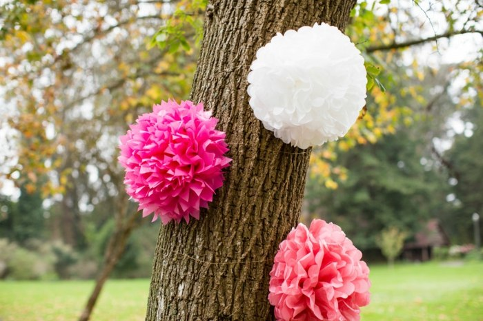 fiestas infantiles ideas troncos jardines arboles