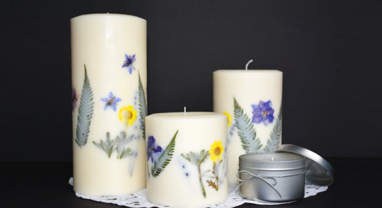 Decoracion Zen Velas ~ Flores secas  ideas asombrosas para decorar velas