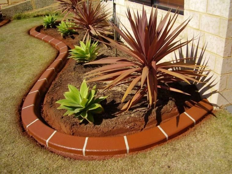 fronteras jardin disenos espacios pequenos adoquines pintados ideas