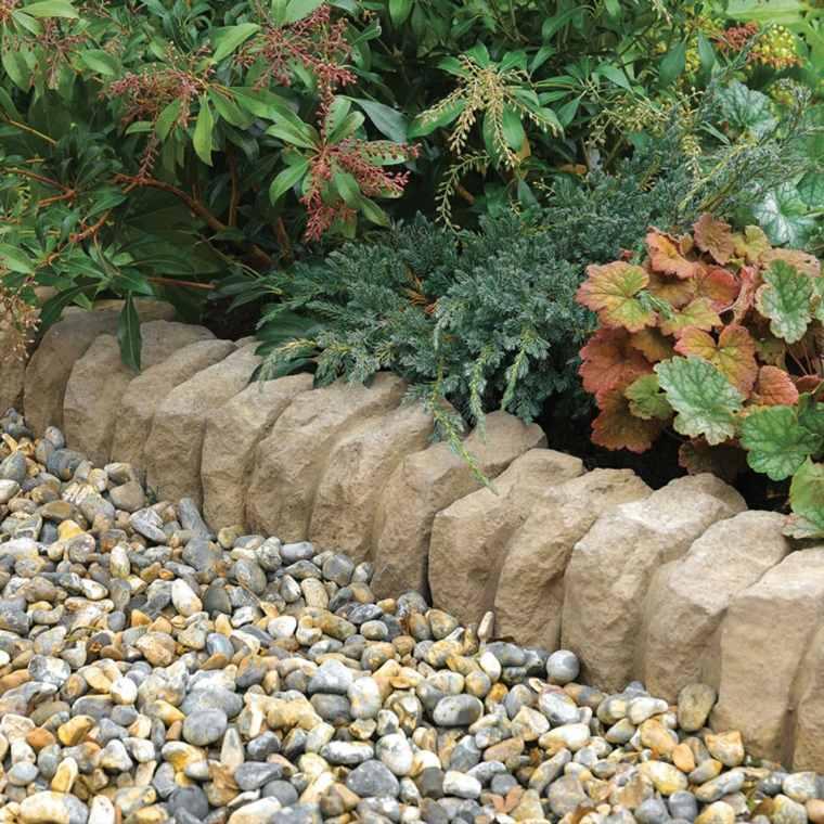 fronteras jardin disenos opciones originales piedras ideas