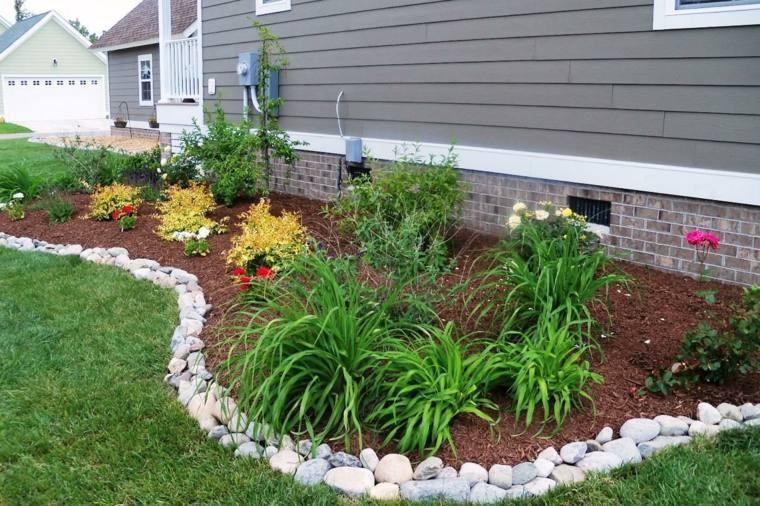 frontera jardin disenos piedras rio opciones bajo costo ideas