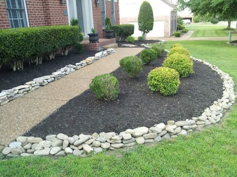Fronteras de jard n 42 opciones muy atractivas - Piedras para jardin baratas ...
