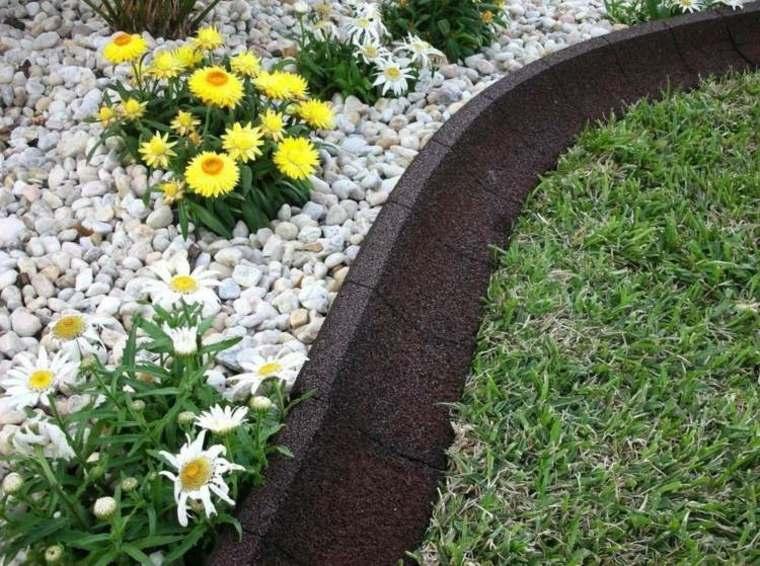 bordes y separadores para parcelas de jardines 24 ideas