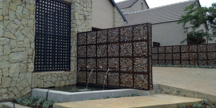fuentes gaviones opcion jardin decor original ideas
