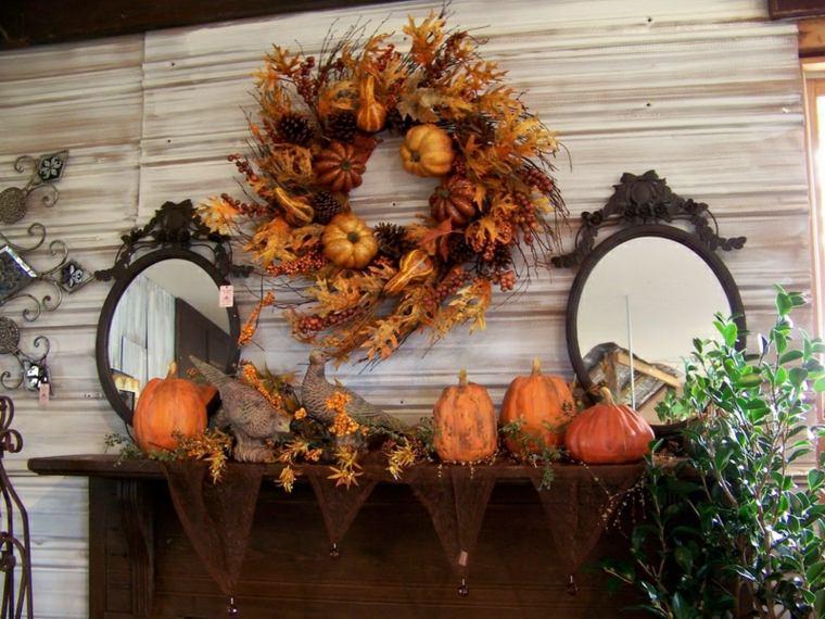 guirnalda otoño hojas secas