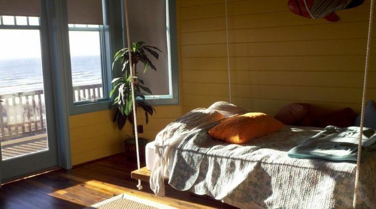 habitacion moderna vistas cama colgante