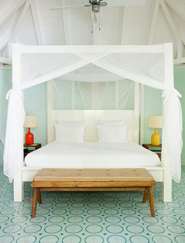 habitacion verano cama doseles mosquiteras