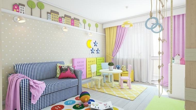 habitaciones infantiles para niñas colores