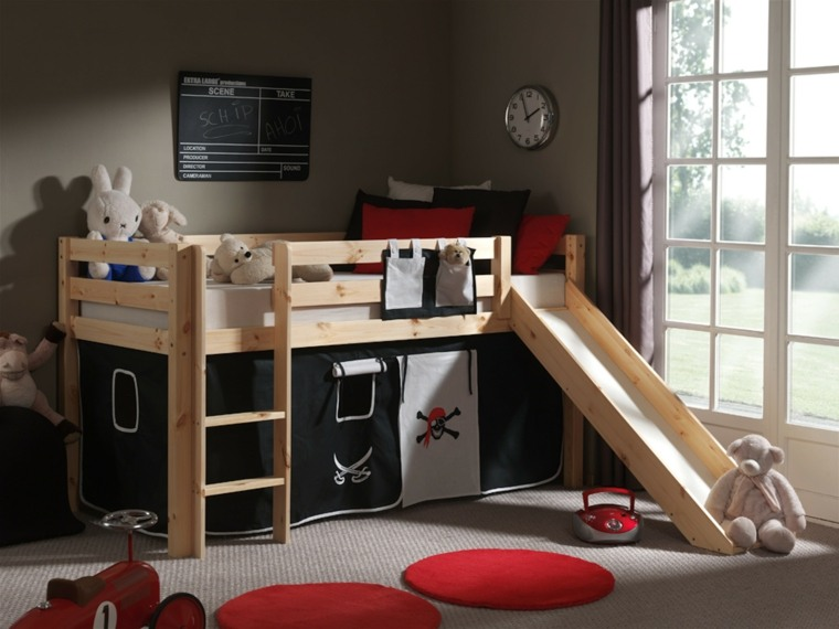habitaciones niños litera tobogán