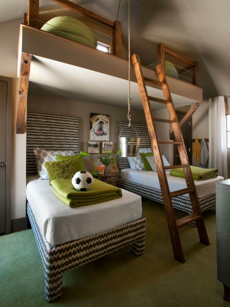 habitaciones originales infantiles literas