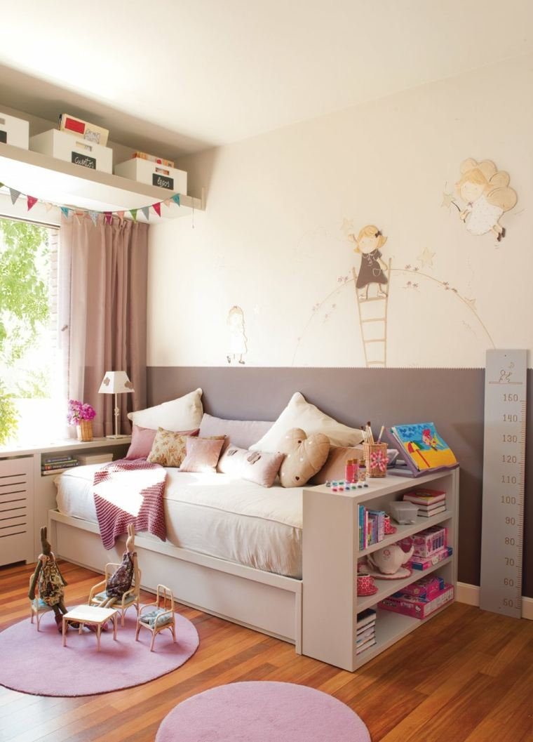 habitaciones originales pequeñas niñas colores