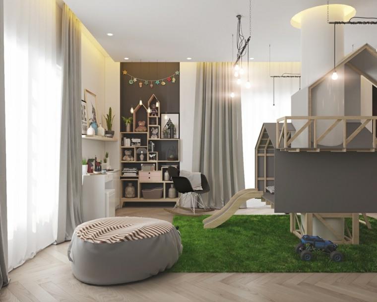 habitaciones para ninos diseno arbol diseno moderno ideas