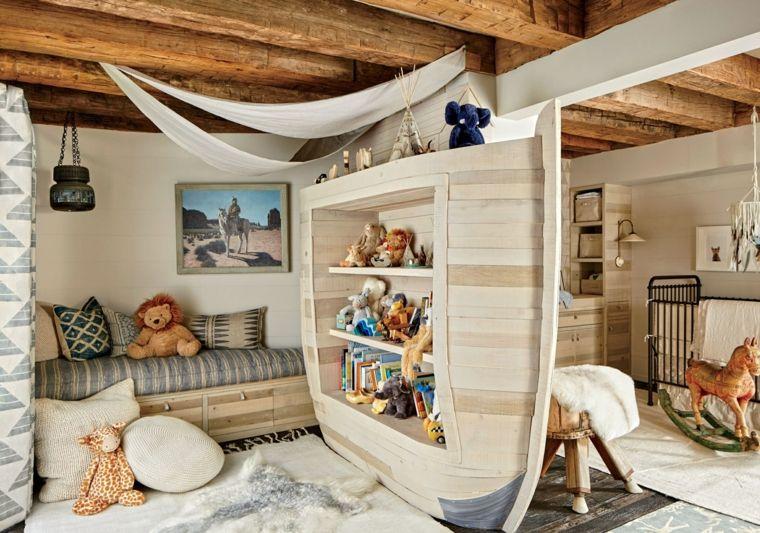 habitaciones para ninos diseno cama barco ideas
